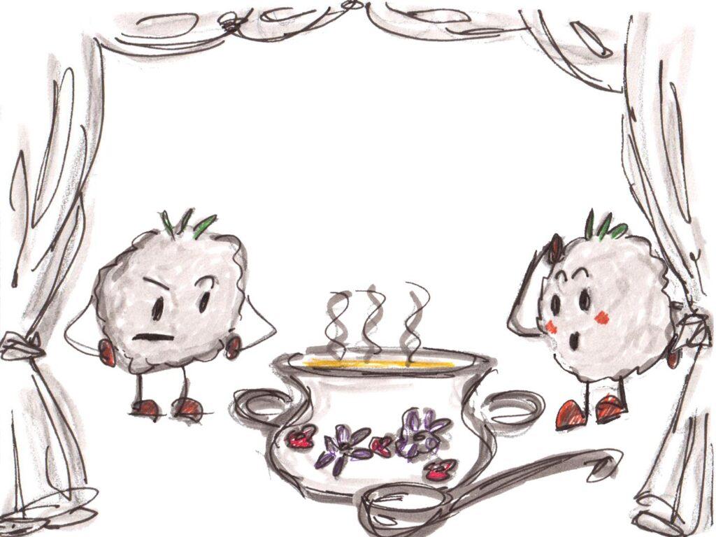 Leberknödel Liver Dumpling Drawing