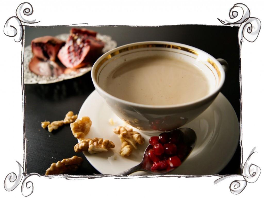 chestnut soup pomegranate walnut