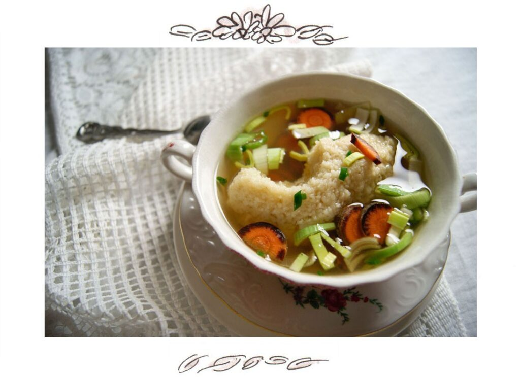 Recipe for Austrian Semolina Dumpling Soup (Grießnockerlsuppe)