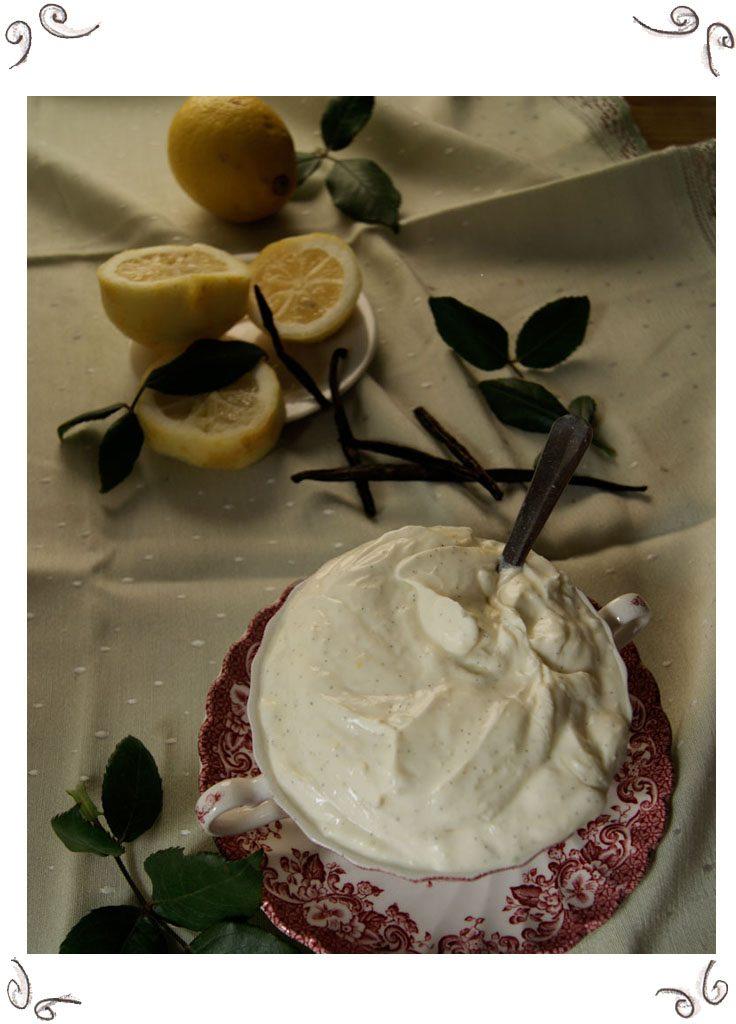 Vanilla Lemon Curd Cream