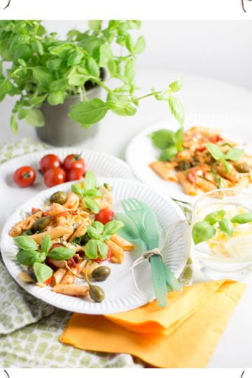 Mediterranean Pasta Salad for picknick and party
