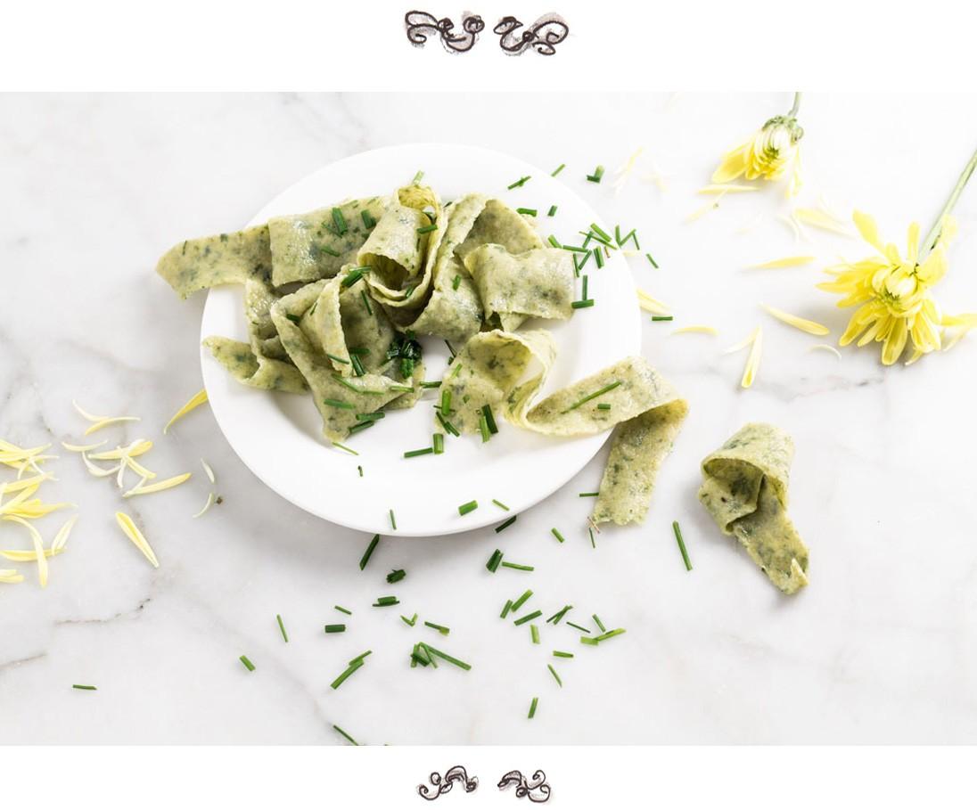homemade green pasta